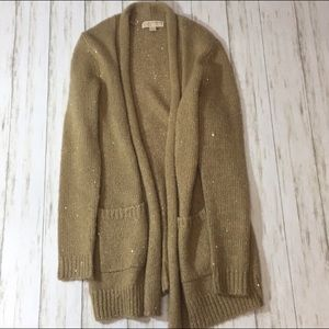 Michael Kors Gold Cardigan 50% off 3pm today!